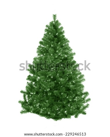 Christmas tree with stars - stock photo
