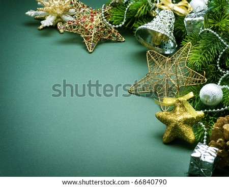 Christmas Vintage Background - stock photo