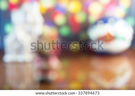 Christmas vintage blured background - stock photo