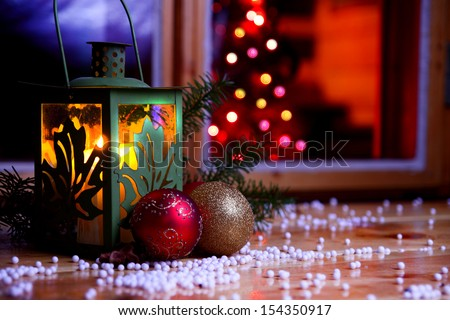 Christmas warm home and family christmas atmosphere - stock photo