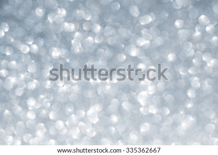 Christmas winter abstract silver sparkle glitter background - stock photo