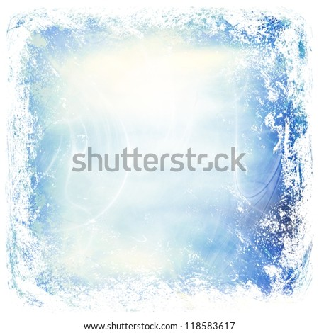 Christmas / winter background ; vintage illustration - stock photo