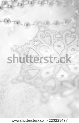 Christmas winter background with snowflakes - stock photo