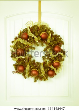 Christmas wreath with vintage look - stock photo