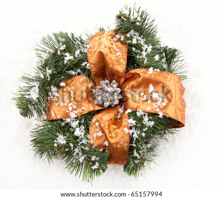 Christmas wreaths with christmas toys on the white background - stock photo