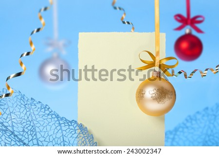 Christmass and New Year greeting card template background - stock photo