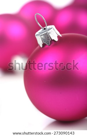 Christmass bauble on white background - stock photo
