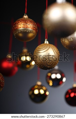 Christmass bauble - studio shot - stock photo
