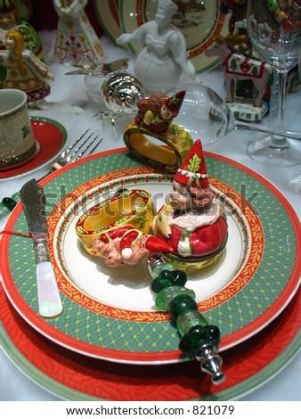 Chritmas Dinner - stock photo