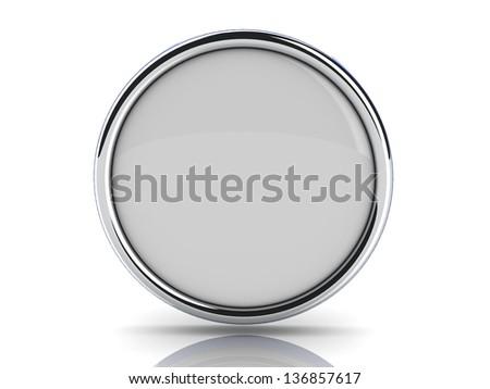 chrome button - stock photo
