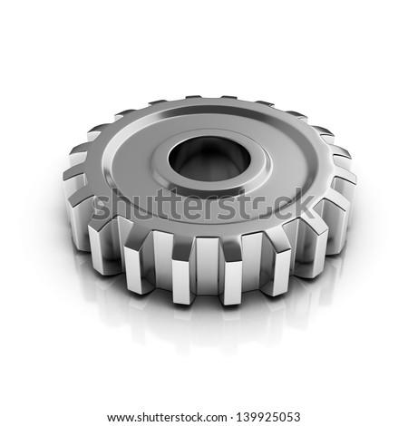 chrome gear - stock photo