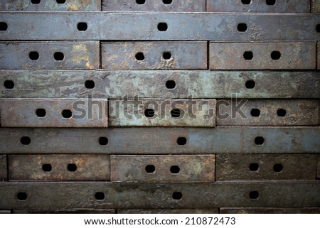 Chrome grille detail. - stock photo
