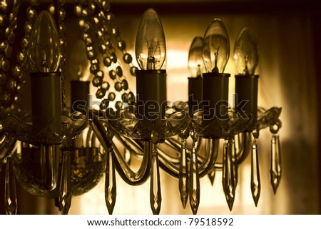 Chrystal chandelier - stock photo