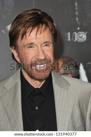 "Chuck Norris at the Los Angeles premiere of his movie ""The Expendables 2"" at Grauman's Chinese Theatre, Hollywood. August 15, 2012  Los Angeles, CA Picture: Paul Smith - stock photo"