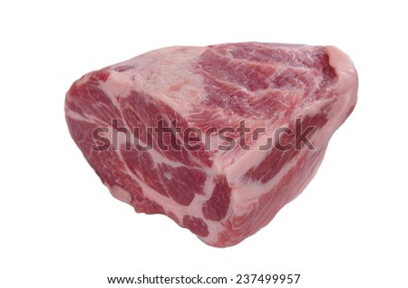 chuck steak on white background - stock photo