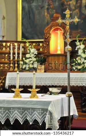 church altar - stock photo