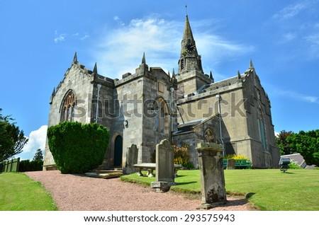 Church and Graveyard - stock photo