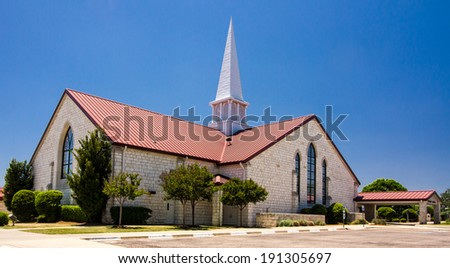 Church at Salado, Texas, USA. - stock photo