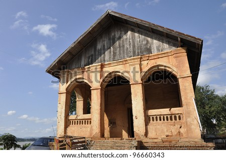 Church Classic Outdoor Ancient Architecture Asian - stock photo