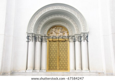Church doorway in the ABAC university in thailand / Church doorway - stock photo