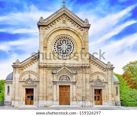 Church Eglise Notre Dame Des  Champs. Paris. France - stock photo