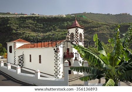 Church Ermita Las Angustias (La Palma, Canary Islands) - stock photo