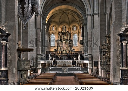 Church from inside - stock photo