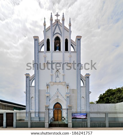 Church Iglesia Maria Auxiliadora, built by the Salesians in 1910 - stock photo