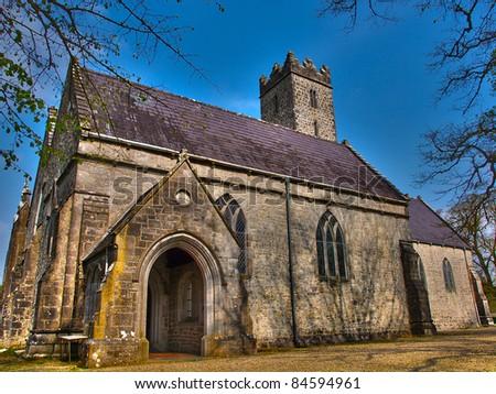 Church in Adare, Ireland - stock photo