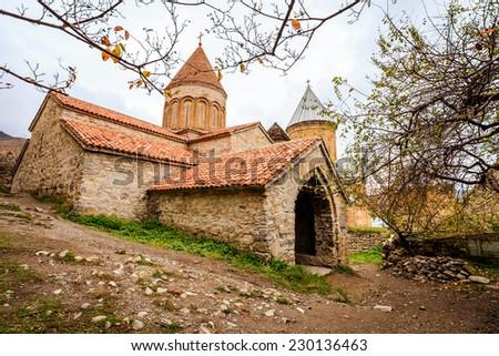Church in Ananuri Fortress - stock photo