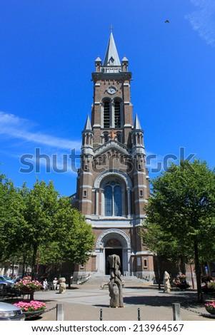 Church in Blankenberge, Belgium - stock photo