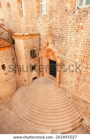 Church in Dubrovnik on the Adriatic Sea - stock photo