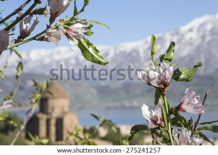 church in east part of Turkey - stock photo