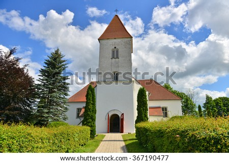 Church in Latvia, Alsunga - stock photo