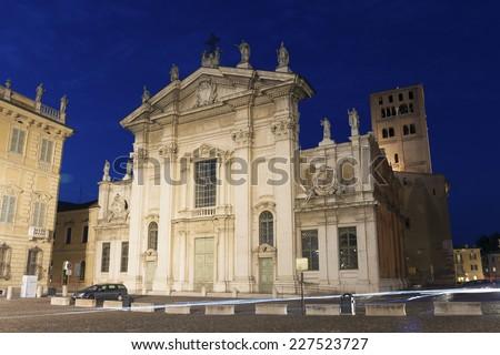 Church in Mantova, Lombardy, Italy - stock photo