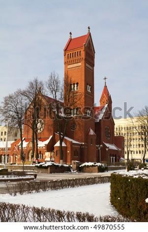 Church in Minsk. Belarus. - stock photo
