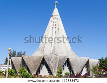 Church in Polana district of Maputo, Mozambique - stock photo