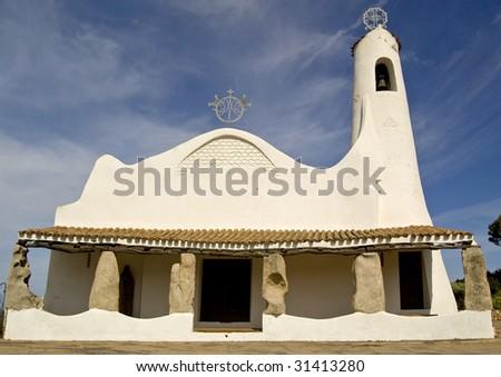 Church in Porto Cervo, Sardinia - stock photo