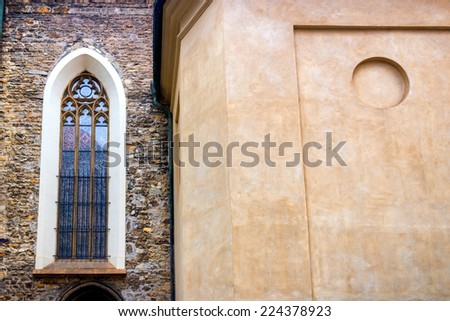 Church in the historical center of Prague - stock photo