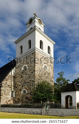 Church of Holy Cross (1520) (monastery church by Rauma Franciscan Friary), It is located in the UNESCO World Heritage Site of Old Rauma - stock photo
