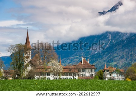 church of interlaken - stock photo