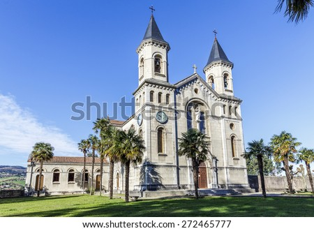 Church of Jesus the Nazarene Pineda in Cudillero, Spain - stock photo