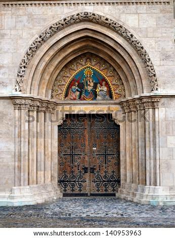 Church of Matthias in Budapest, Hungary - stock photo