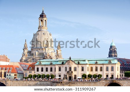 Church of Our Lady in Dresden - stock photo