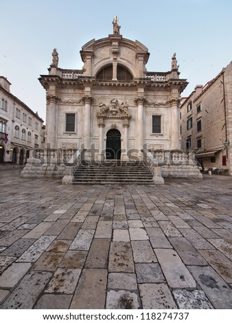 Church of Saint Blaise (St.Vlaha) builted in 1715. Dubrovnik , Croatia - stock photo