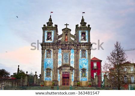 Church of Saint Ildefonso (Igreja de Santo Ildefonso) , Porto, Portugal - stock photo