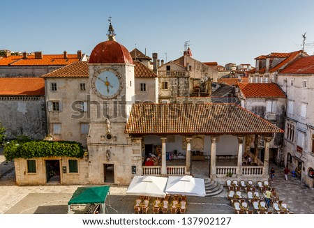 Church of Saint Sebastian in the Center of Trogir, Croatia - stock photo