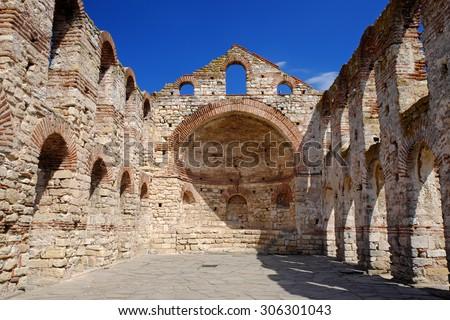 Church of Saint Sophia in old city of Nessebar, Bulgaria - stock photo