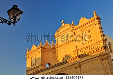 Church of Santa Maria della Purit�  in Gallipoli, Apulia. Italy. - stock photo