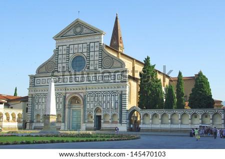Church of Santa Maria Novella  in Florence, Italy. - stock photo